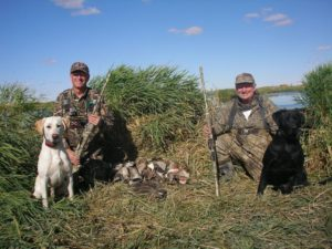 Alan and Rebel after a hunt in Canada with Roger Francis